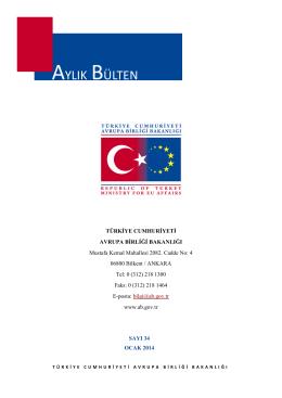Aylık Bülten Ocak 2014 - Avrupa Birliği Bakanlığı