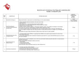 bilecik aile ve sosyal politikalar il müdürlüğü hizmet standartları