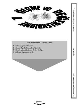 Ölçme ve Değerlendirme 2 Kapsadığı Konular 1