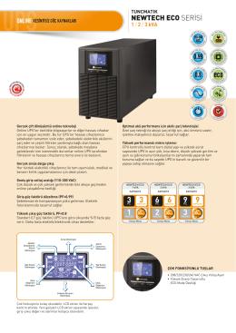 Newtech Eco 1-2-3 kVA Data Sheet Türkçe