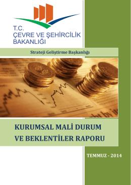 2014 Yılı Kurumsal Mali Durum ve Beklentiler Raporu için tıklayınız