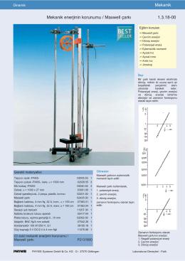 Mekanik Mekanik enerjinin korunumu / Maxwell çarkı 1.3.18-00