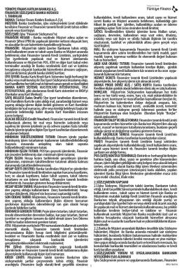 Finansör Sözleşmesi - Türkiye Finans Katılım Bankası