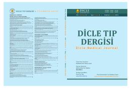 Kapak Dosyası - Dicle Tıp Dergisi