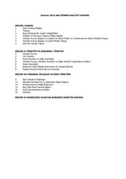 Faaliyet Raporu Haziran 2014