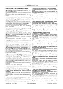 İçindekiler Dosyası - Dicle Tıp Dergisi