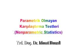 SPSS ile Parametrik Olmayan Testlerin Analizi