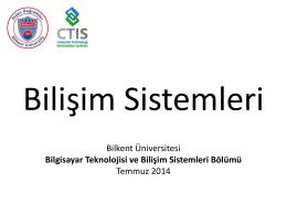 Bilkent Üniversitesi Bilgisayar Teknolojisi ve Bilişim Sistemleri