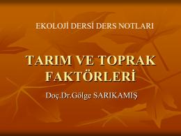 Toprak su kapasitesi - Ankara Üniversitesi Ziraat Fakültesi