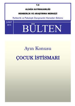 RPDH BÜLTENİ ŞUBAT 2015 Ortaokul