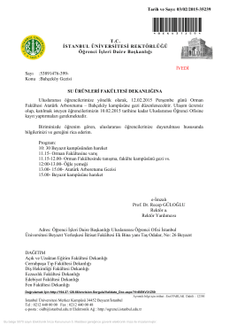Bahçeköy Gezisi - Su Ürünleri Fakültesi