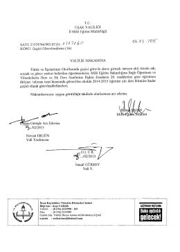 Merkez ve İlçeler Görevlendirme Listesi 06.02.2015 14:21