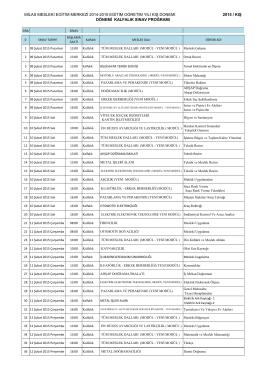 milas mesleki eğitim merkezi 2014-2015 eğitim öğretim yılı kış