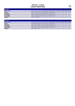 TD3_04 3. Sınıf CEVAP ANAHTARI