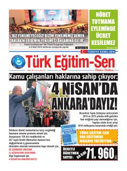 Kamu çalışanları haklarına sahip çıkıyor: İktidarın - Türk Eğitim-Sen