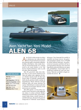 ALEN 68 - Alen Yacht