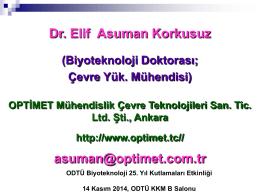 Dr. Asuman Korkusuz - Biotechnology
