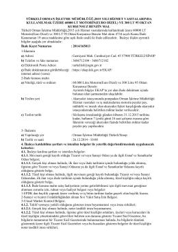 Türkeli.Akaryakıt İhale İlanı - Kastamonu Orman Bölge Müdürlüğü