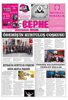 04.09.2014 Tarihli Cephe Gazetesi