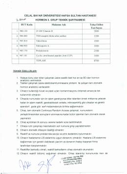 3. GRUP TEKNiK ŞARTNAMESi - Celal Bayar Üniversitesi