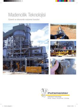 Madencilik Teknolojisi - Putzmeister Solid Pumps
