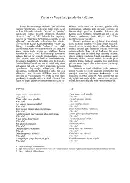 Yaslar va Vayahlar, Şahalaylar / Ağıtlar - e