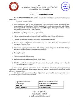gerekli belgeler / regıstratıon documents