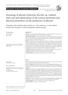 Screening of phytate hydrolysis Bacillus sp. isolated from soil and