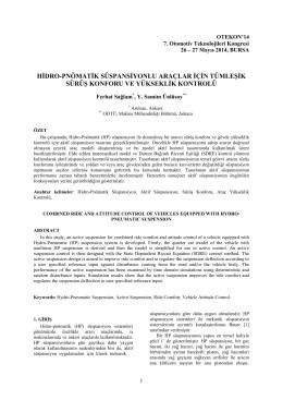 hidro-pnömatik süspansiyonlu araçlar için tümleşik sürüş