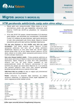 Migros - Ata Yatırım