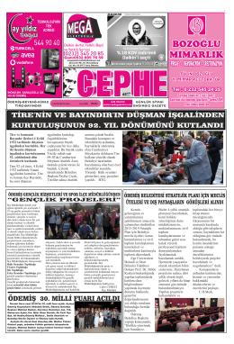 05.09.2014 Tarihli Cephe Gazetesi