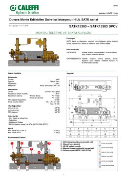 SATK15303 – SATK15303 DPCV