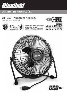 QT-U601 Kullan›m K›lavuzu - Bluelight