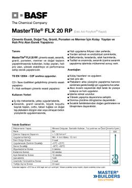MasterTile® FLX 20 RP (Eski Adı Polyflott® Rapid