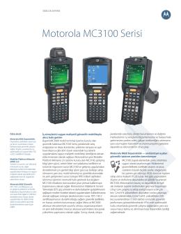 DÖKÜMAN İNDİRMotorola MC3190 Teknik Özellikleri
