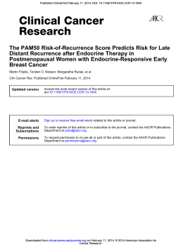 Breast Cancer Postmenopausal Women with Endocrine