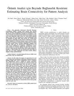 Örüntü Analizi için Beyinde Ba˘glanırlık Kestirimi Estimating Brain