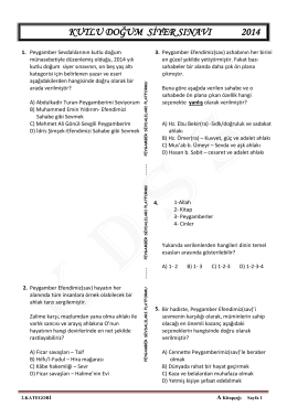 2. Kategori (İlk/Orta) A Kitapçığı