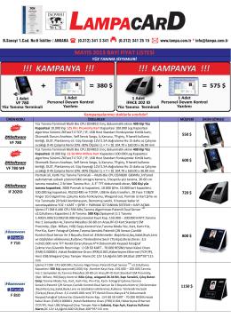 ONUREGS Mayıs_2013 Fiyat Listesi