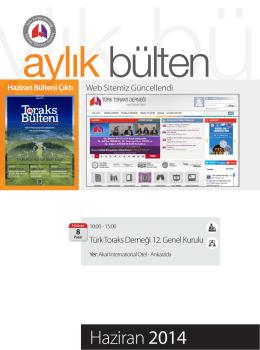 Haziran 2014 - Türk Toraks Derneği