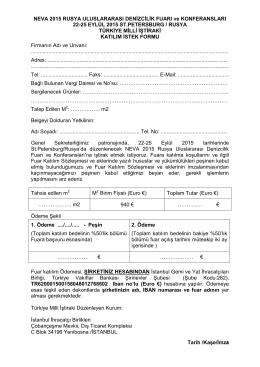 Katılım İstek Formu