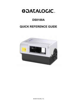 DS8100A QUICK REFERENCE GUIDE