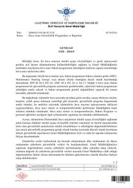 UED_2014-05 - Sivil Havacılık Genel Müdürlüğü