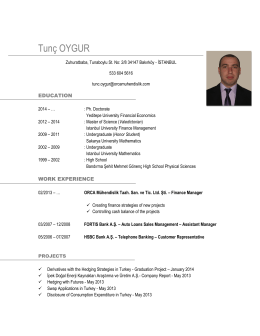 Download CV - Tunç Oygur