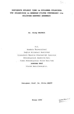 Tez Metni(PDF) - Anadolu Üniversitesi Kütüphanesi