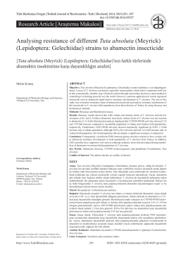 Analysing resistance of different Tuta absoluta