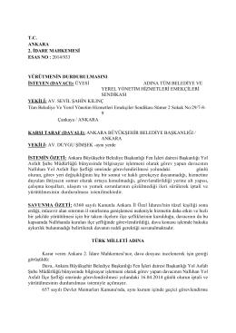 tc ankara 2. idare mahkemesi esas no : 2014/933