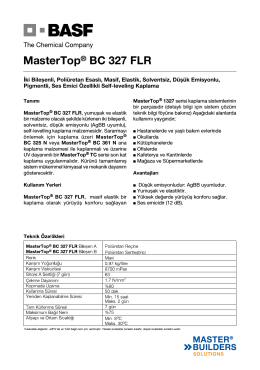 MasterTop® BC 327 FLR