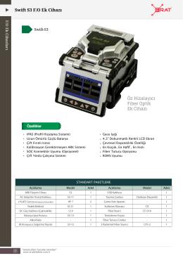 88 Swift S3 F/O Ek Cihazı Öz Hizalayıcı Fiber Optik