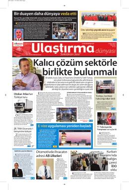 Süleyman HAMURCU - Ulaştırma Dünyası